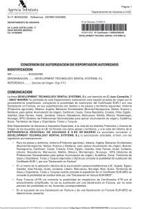 Autorización de Exportador Autorizado - DTD systems